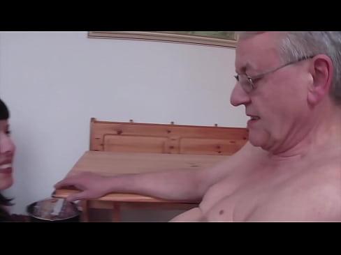 WTF! Old 65yo ugly German Guy fucks his 18yo Stepdaughter