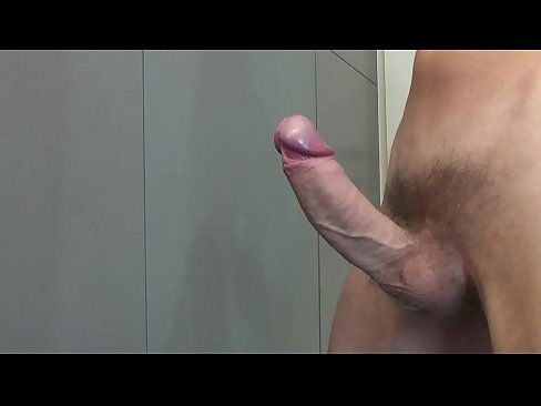 Flowing sperm from my very hard and big cock