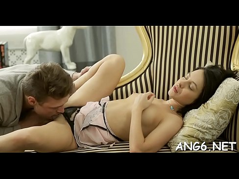 Pleasant darling is delighting hunk with her oral-sex and wet cunt