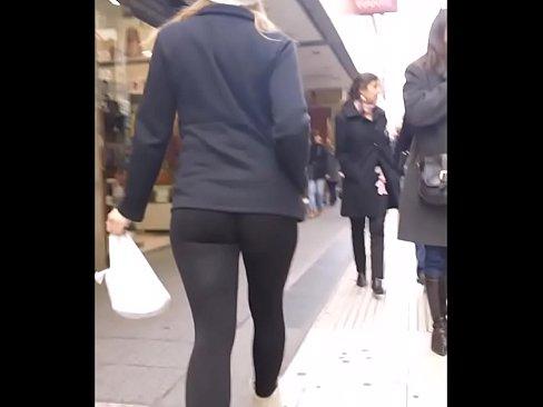 stunning girl in skin tight leggings