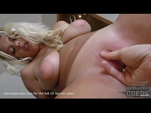 summer tan lines on sweet 18yo alina big natural tits striptease masturbate