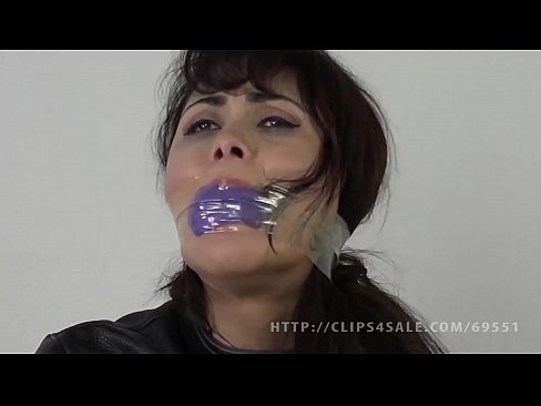 Woman otngagged asian cum mouth