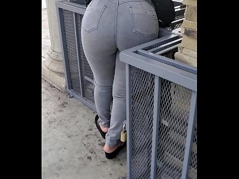 Sexy Latina bent over showing off ass