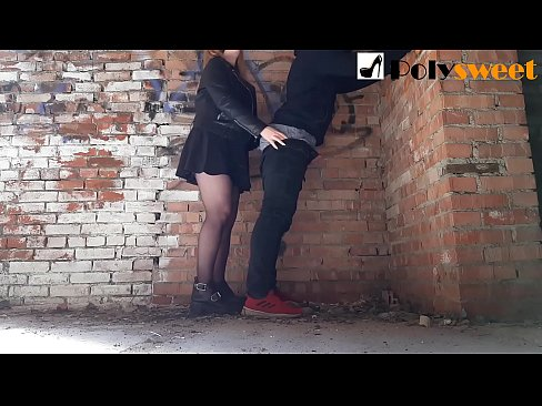 Fucked her BF in an abandoned building (Pegging)