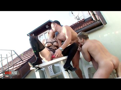 Promoting bi sex on the roof