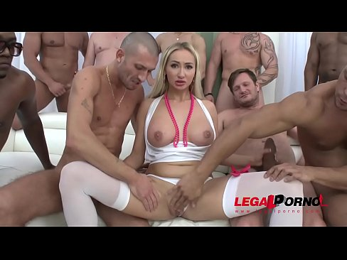 Cock Hungry Whore Lara Onyx in the Wildest Gangbang Ever