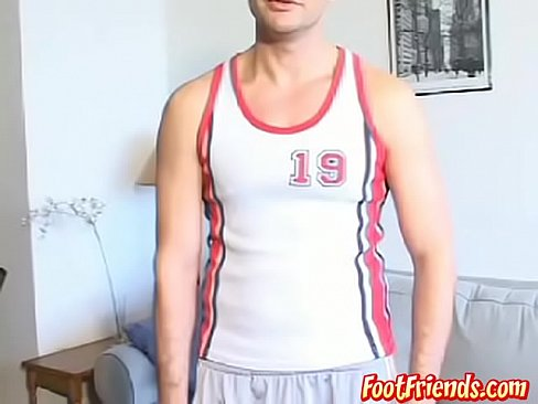 Horny feet lover jerking off and joking around