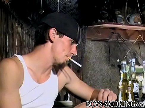 Cigar loving young men jerking off hard until a blasting end