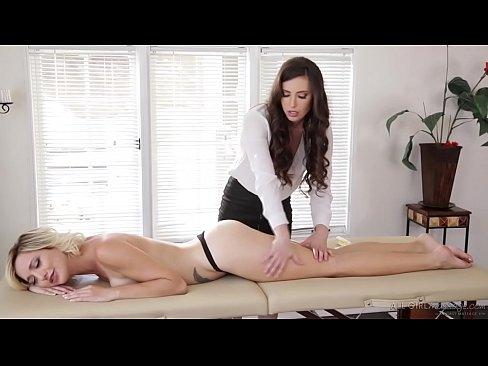 Casey Calvert offers new massage oil to Eliza Jane