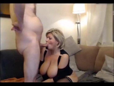 German blond Milf in stockings - 8min.