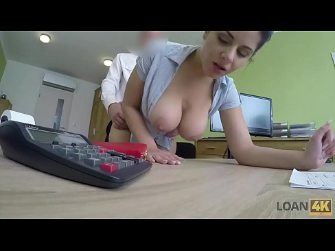 LOAN4K. Agent offers Alex Black sex to get her loan and she agrees