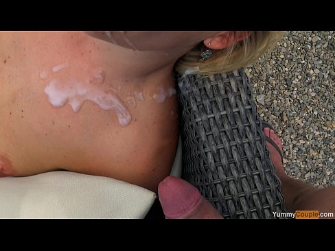 incredibly cute MILF fucked and cum sprayed at the pool - YummyCouple