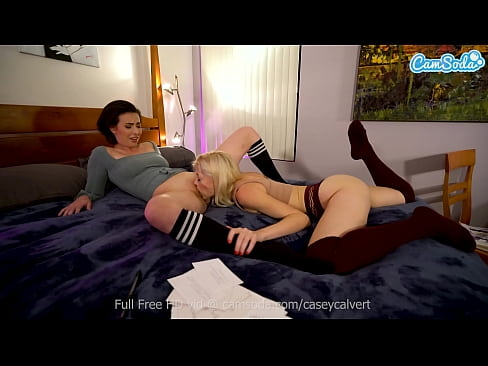 Camsoda - Casey Calvert and Charlotte Stokely engage in stress relief sex