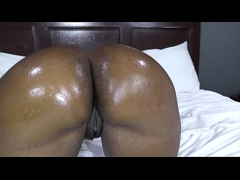 Big black booty trainer makes Jiggles work out then wash up
