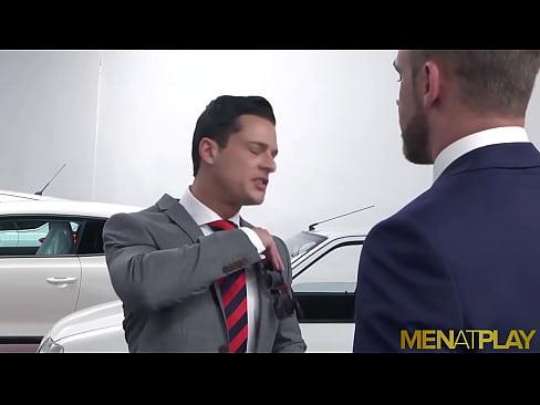 MENATPLAY Men In Suits Logan Moore And Rex Cameron Anal Fuck