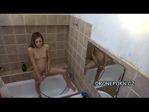 Long Hair Adéla - Czech teen in the shower
