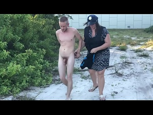 Humiliating Cavity Search - Guy at Beach Strip Searched by Woman Cop and Handcuffed, Forced to Walk Naked in Public at the Beach