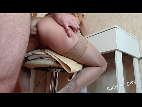My girlfriend squirts from anal sex. Stepson fucked his young stepmother