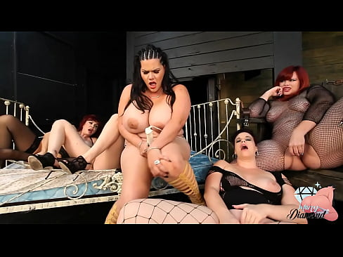 MILF Marcy Diamond and Friends Play With Dildo and Talk Dirty