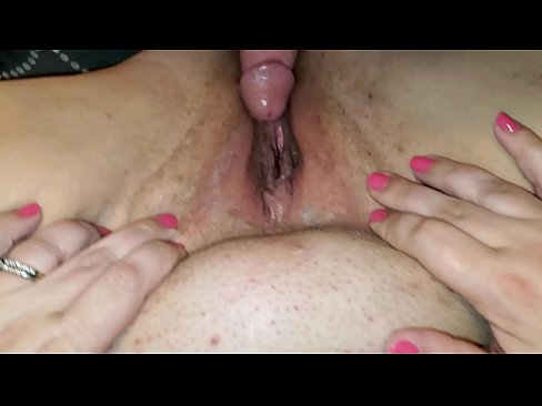 Amateur husband teases wife's tight, wet pussy