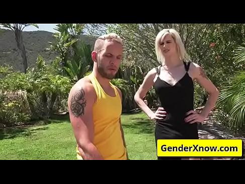 Hot transsexual sucking hard cock - Wolf Hudson, Kellie Shaw