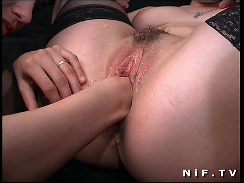 Two horny french sluts sharing a cock