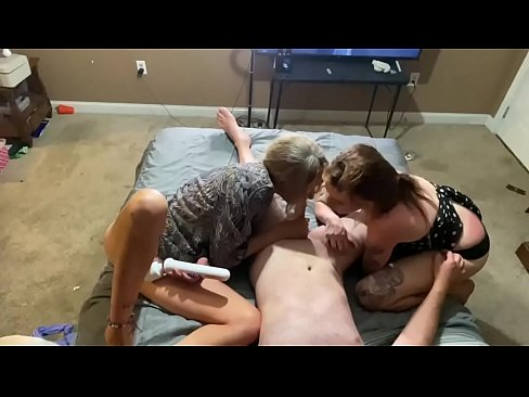 Step mom step sister share a hard cock