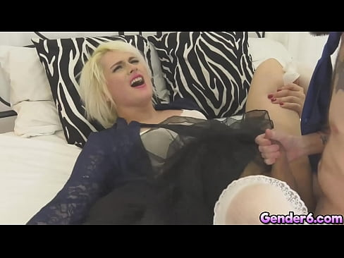 Gorgeous blonde TS Isabella Sorrenti and her partner Kai Bailey is having a romantic time together. They start gently but soon goes all in anal!