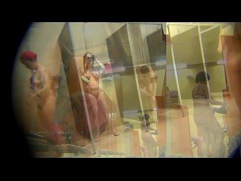 Public showers full of naked women