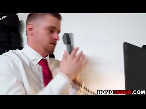 Step brother visits him in office for gay sex