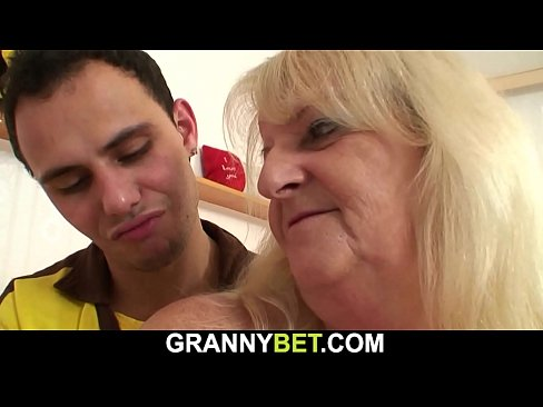 He picks up 60 years old woman's Thumb