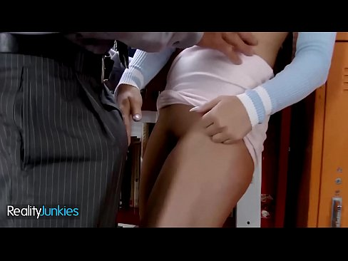 Petite Brunette (Whitney Wright) Cums Multiple Times On Her Professors Big Cock - Reality Junkies
