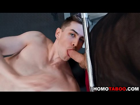 Gay step-brothers fucking in the gym