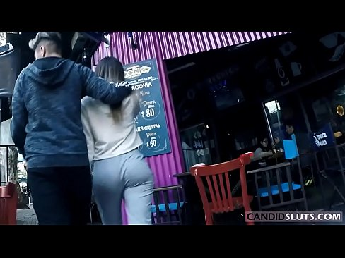 lovely pawg teen big round ass candid voyeur in grey cotton pants - candidsluts.com video cs-082
