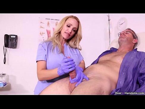 BUSTY Nurse MILKS her patient - Over 40 Handjob