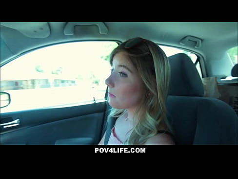 Cute Teen Babysitter Vienna Rose Ride Home From Client Gets Fucked POV