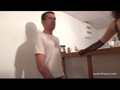 Amateur French milf hard sodomized fist fucked and cum covered for her casting