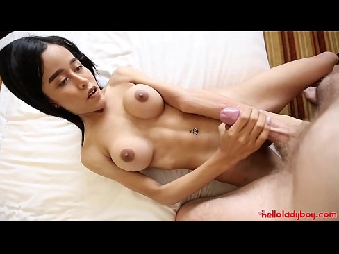 HELLOLADYBOY Gorgeous Thai Flexible Ladyboy Fucked With Mouthful