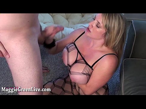All Natural Busty Babe Maggie Green Gets Fucked Hard in Body Stocking!
