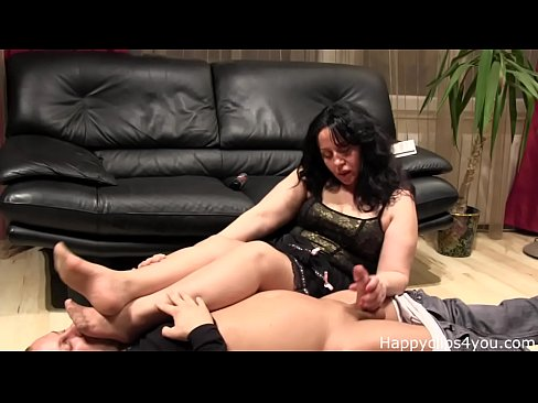 Handjob with foot smelling by HappyClips4you.com