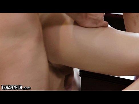 TransSensual Casey Kisses Makes a Pass at Studly Office Hunk