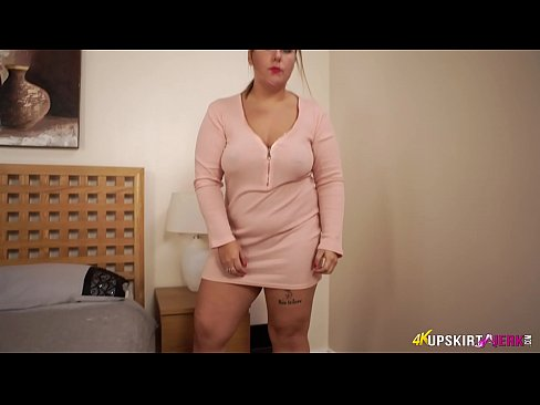 Slutty Blonde Lets You Wank Over Her Cunt While She Talks Dirty