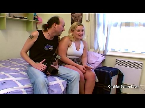 Boyfriend watches his chubby wife getting banged by a skinny guy