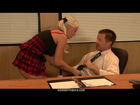 MomsWithBoys - Busty Blonde MILF Librarian Tatum Pierce Fucks Principal