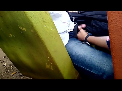 Handjob by sister in park after class