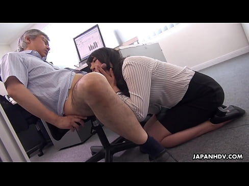 Japanese secretary, Marina Aoyama is naughty, uncensored