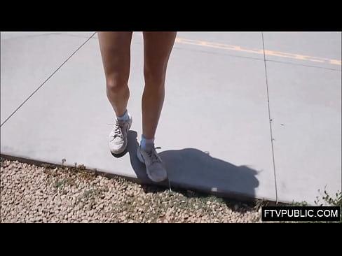 Athletic jogger public nudity
