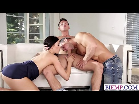 Guy fucks hot babe and her bi hubby