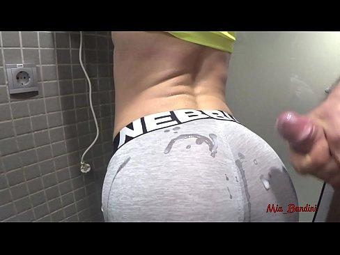 PUBLIC SEX - HORNY FIT TEEN WANTS CUM ON YOGA PANTS. Mia Bandini