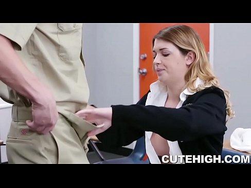 Jenna Ashley Fucks Big Cock Janitor